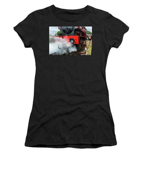 Women's T-Shirt featuring the photograph Back It Up by Nick Bywater