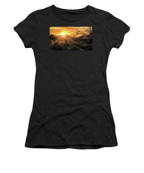 Back Lit Women's T-Shirt (Athletic Fit)