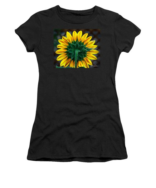 Back Of Sunflower Women's T-Shirt (Athletic Fit)