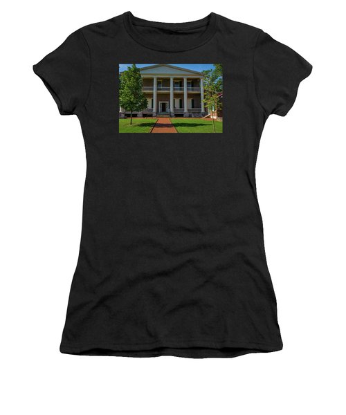 Women's T-Shirt (Athletic Fit) featuring the photograph Back Porch - The Hermitage by James L Bartlett