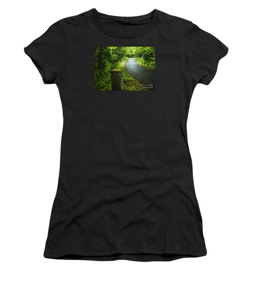 Back Road Women's T-Shirt (Athletic Fit)