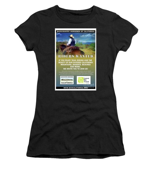 Backcountry Horsemen Join Us Poster Women's T-Shirt