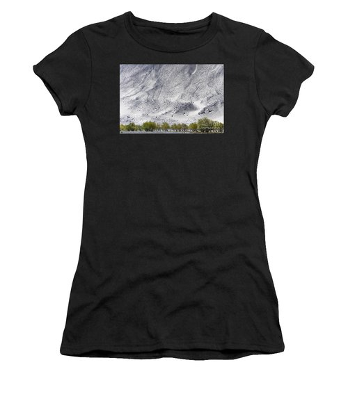 Backdrop Of Sand, Chumathang, 2006 Women's T-Shirt (Athletic Fit)