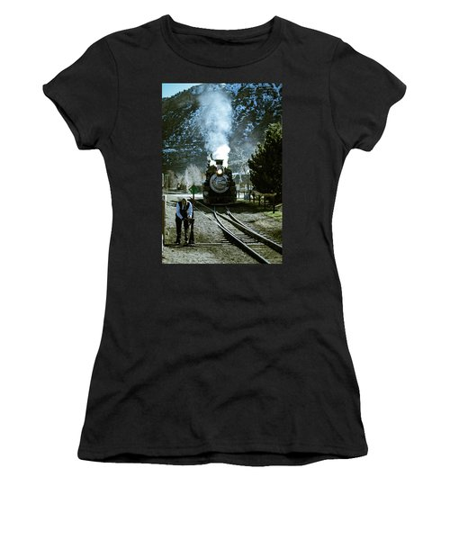 Backing Into The Station Women's T-Shirt (Athletic Fit)