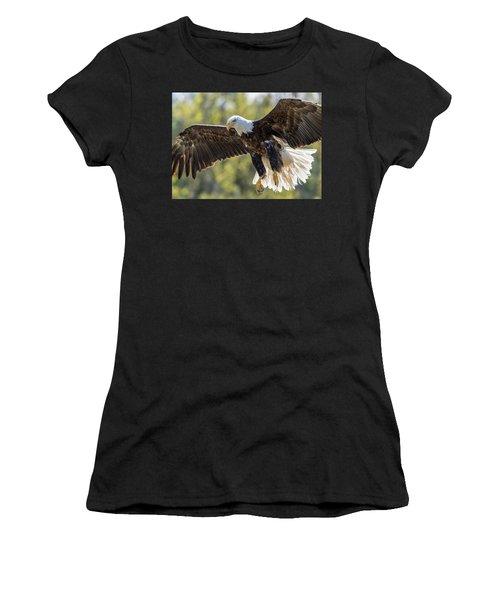 Backlit Eagle Women's T-Shirt (Athletic Fit)