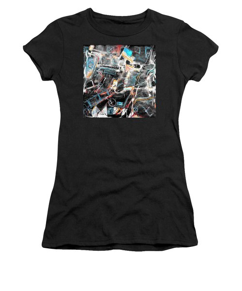 Women's T-Shirt (Junior Cut) featuring the painting Badlands 2 by Dominic Piperata