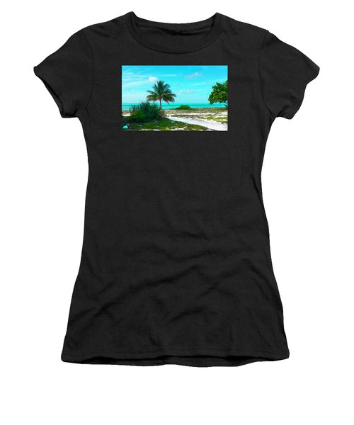 Bahama Beach Oil Women's T-Shirt (Athletic Fit)