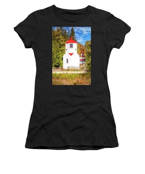 Baileys Harbor Range Light Women's T-Shirt (Athletic Fit)