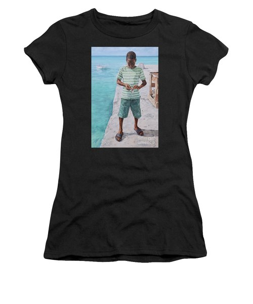 Baiting Up Women's T-Shirt (Athletic Fit)