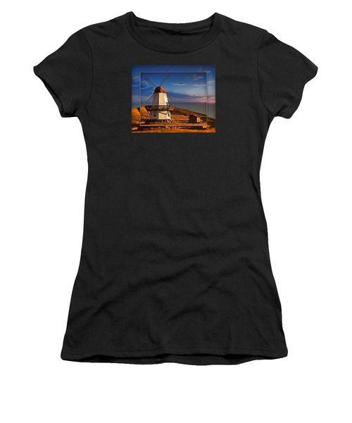 Baker City Windmill_1a Women's T-Shirt (Athletic Fit)