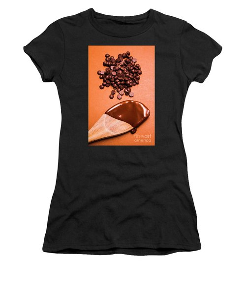Baking Scene Of Spoon Covered With Chocolate Women's T-Shirt