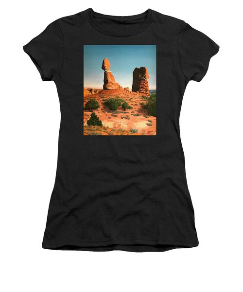 Balanced Rock At Arches National Park Women's T-Shirt