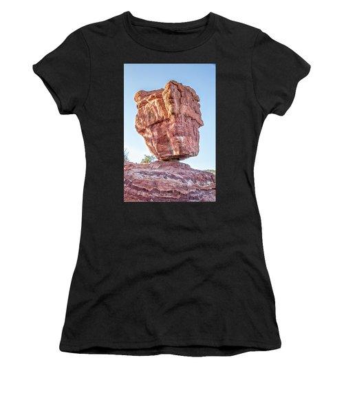 Balanced Rock In Garden Of The Gods, Colorado Springs Women's T-Shirt