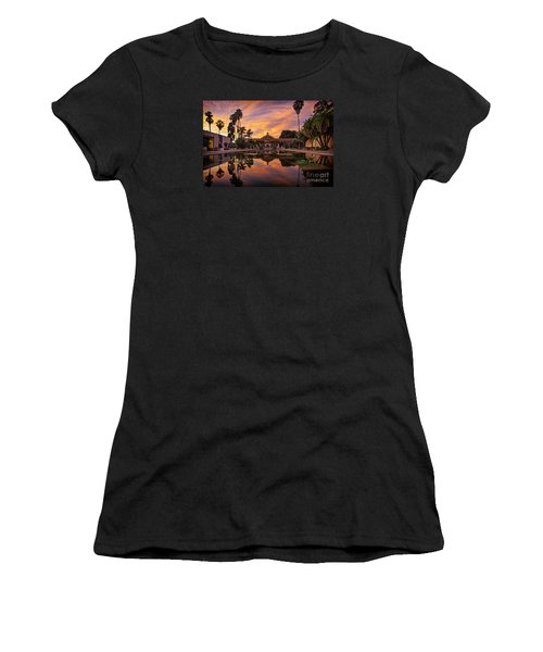 Balboa Park Botanical Building Sunset Women's T-Shirt (Athletic Fit)