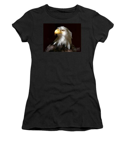 Bald Eagle Closeup Portrait Women's T-Shirt