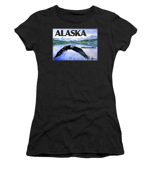 Bald Eagle Over Ocean Shirt Women's T-Shirt