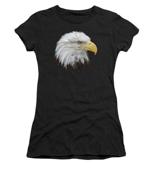 Women's T-Shirt (Junior Cut) featuring the photograph Bald Eagle Profile by Ernie Echols
