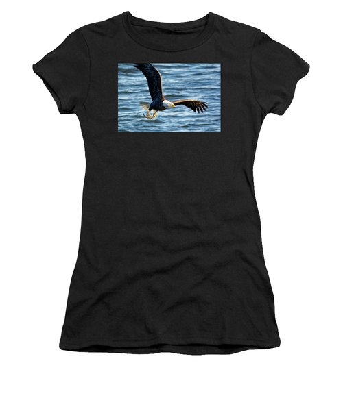 Bald Eagle With Fish Women's T-Shirt