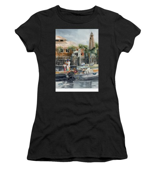 Bald Head Is. Marina Viiew Women's T-Shirt (Athletic Fit)
