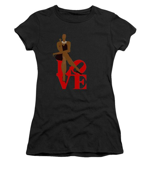 Bald Sitting On Love Women's T-Shirt (Athletic Fit)