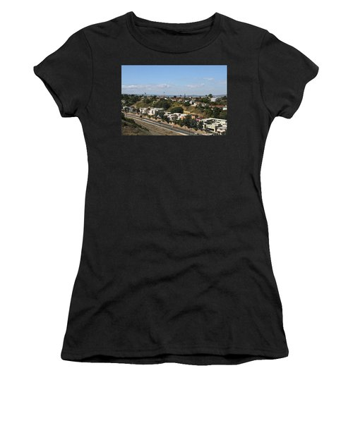 Baldwin Hills Over Stocker Street  Women's T-Shirt