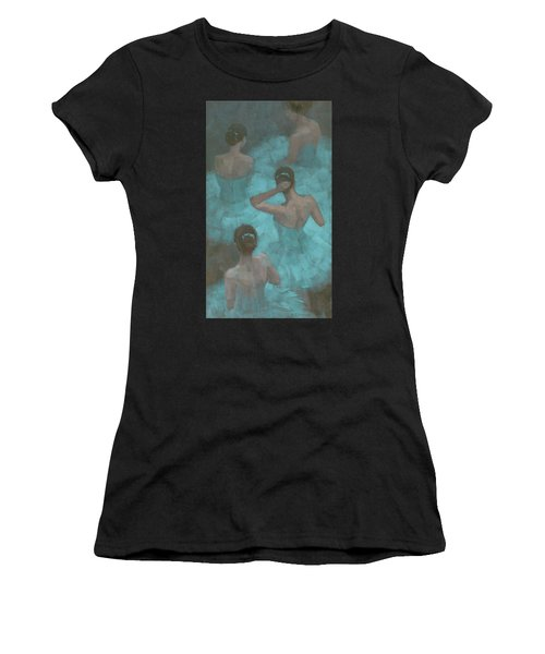 Ballerinas In Blue Women's T-Shirt
