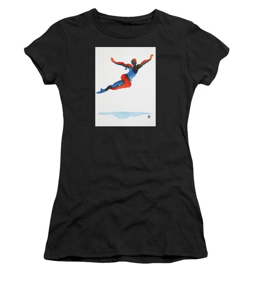 Ballet Dancer 1 Flying Women's T-Shirt (Athletic Fit)