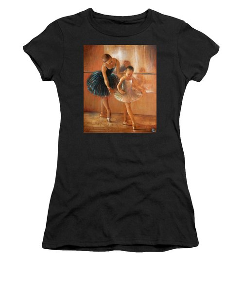 ballet lesson-painting on leather by Vali Irina Ciobanu  Women's T-Shirt (Athletic Fit)