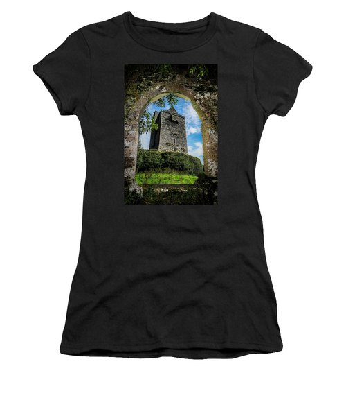 Women's T-Shirt (Athletic Fit) featuring the photograph Ballinalacken Castle In County Clare, Ireland by James Truett