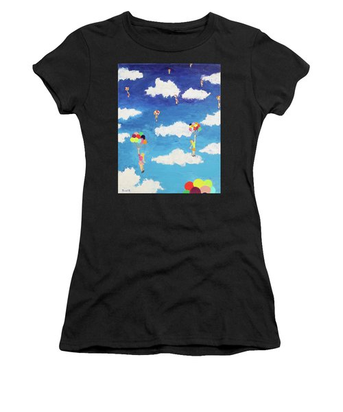 Balloon Girls Women's T-Shirt (Athletic Fit)