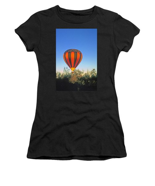 Balloon Launch Women's T-Shirt (Athletic Fit)