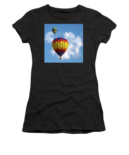 Balloons In The Cloud Women's T-Shirt (Athletic Fit)