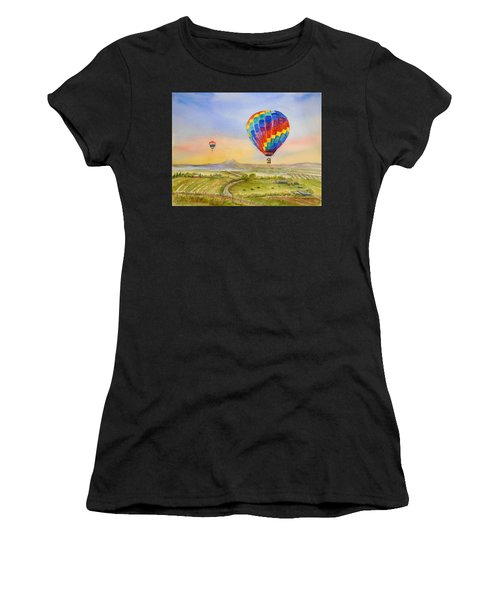 Balloons Over Mcminnville Women's T-Shirt (Athletic Fit)