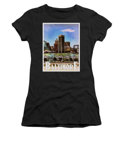 Baltimore Skyline Women's T-Shirt (Athletic Fit)