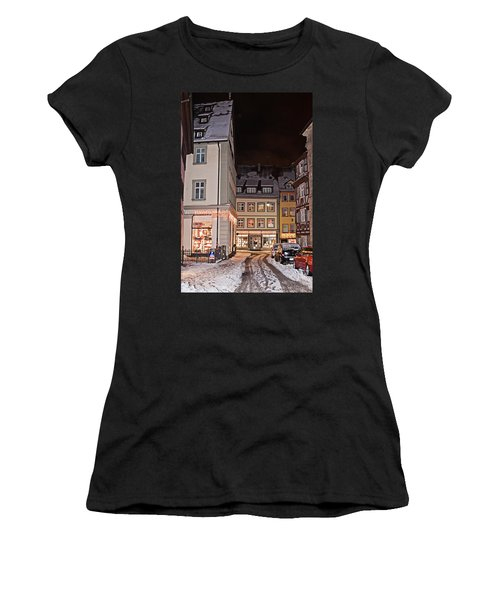 Women's T-Shirt featuring the photograph Bamberg In The Winter by Tatiana Travelways