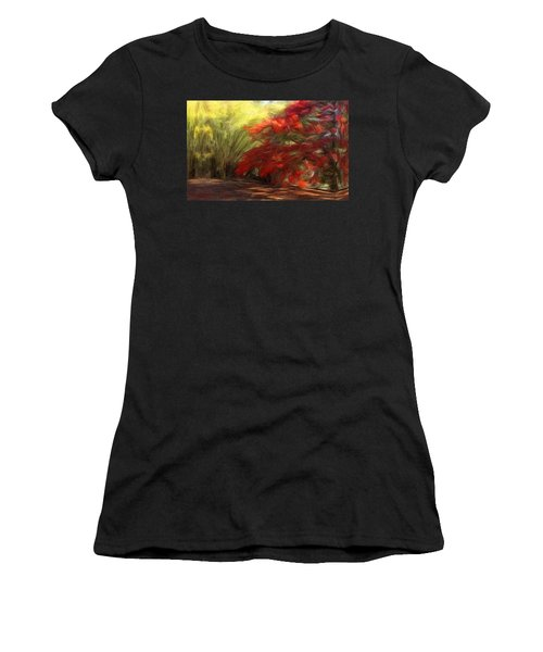 Bamboo And The Flamboyant Women's T-Shirt (Athletic Fit)