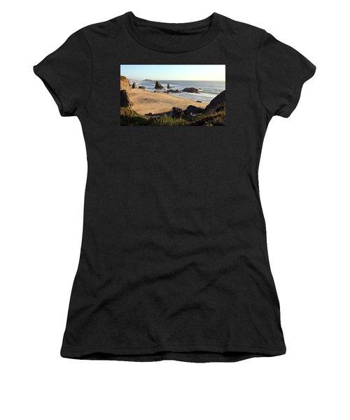 Bandon Beachfront Women's T-Shirt (Junior Cut) by Athena Mckinzie