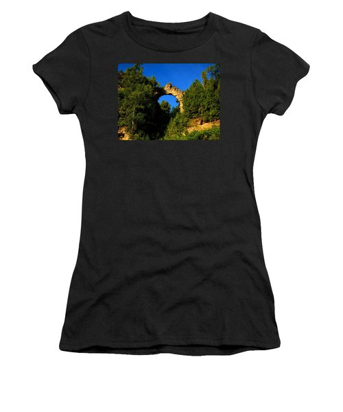Beneath Arch Rock Women's T-Shirt (Athletic Fit)