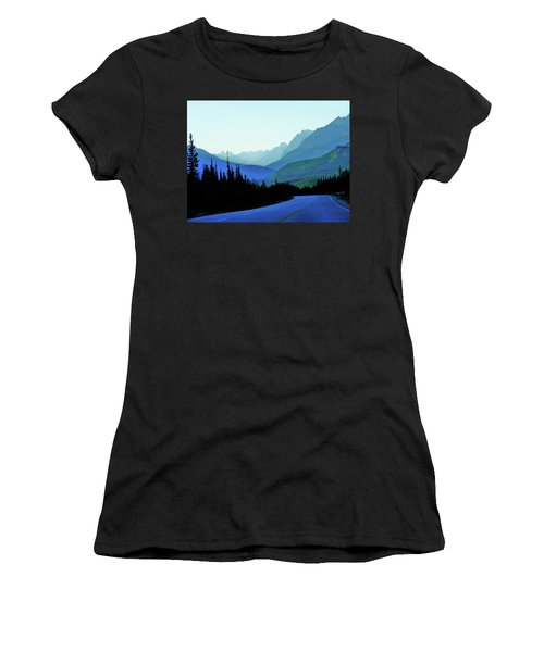 Banff Jasper Blue Women's T-Shirt (Athletic Fit)