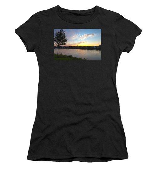 Bangor Sunset Women's T-Shirt (Junior Cut) by Melinda Fawver