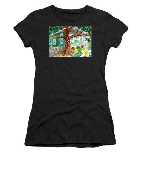 Banyan In The Backyard Women's T-Shirt (Athletic Fit)
