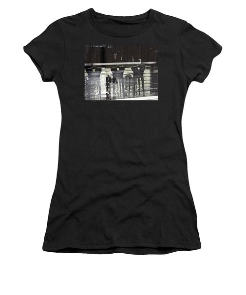 Women's T-Shirt (Junior Cut) featuring the photograph Bar And Stools by Sarah Loft