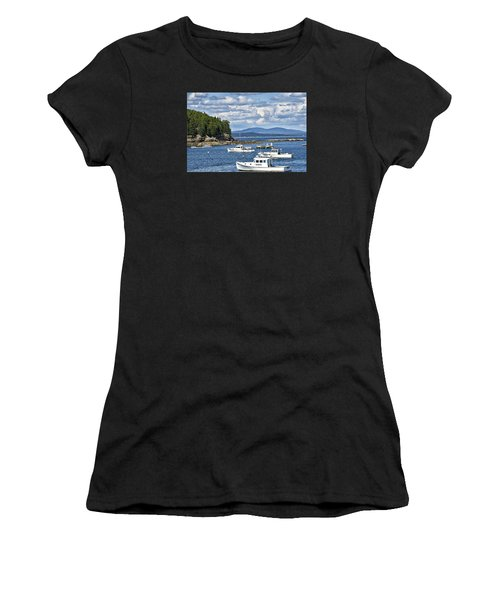 Bar Harbor Lobster Boats - Frenchman Bay Women's T-Shirt (Athletic Fit)