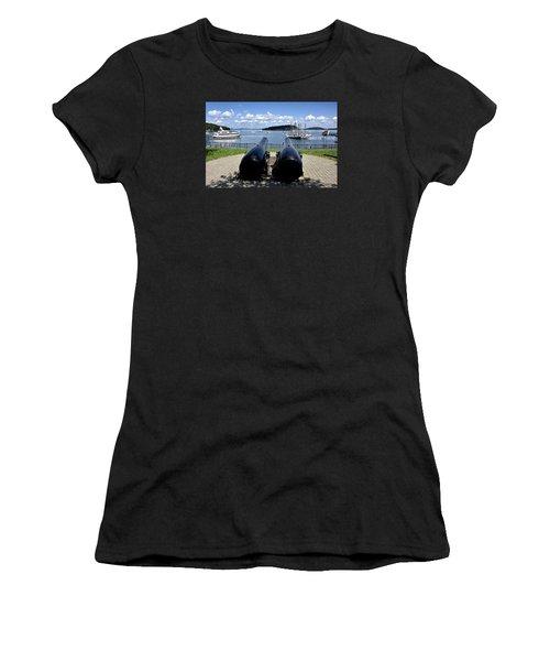 Bar Harbor - Maine - Canons At Agamont Park Women's T-Shirt (Junior Cut) by Brendan Reals