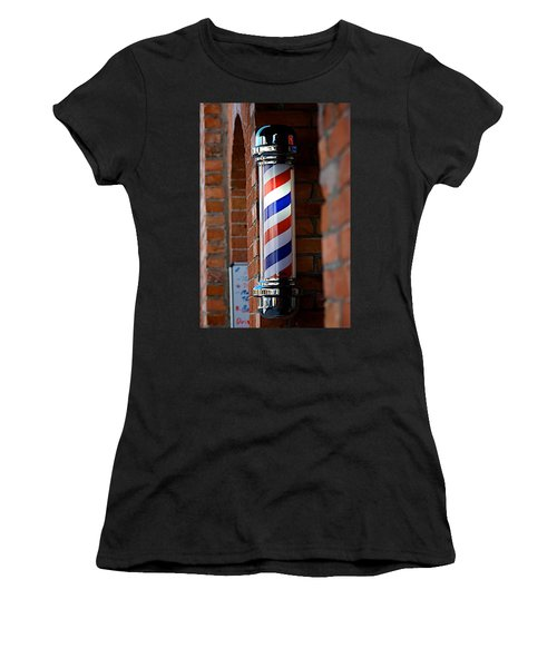 Barber Pole Women's T-Shirt (Athletic Fit)