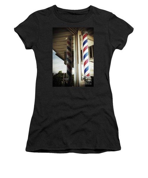 Barbershop Pole Women's T-Shirt (Athletic Fit)
