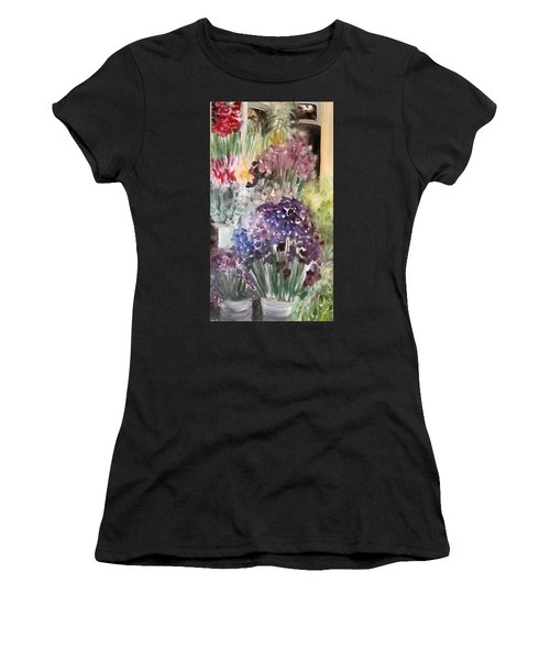 Barcelona Flower Mart Women's T-Shirt (Athletic Fit)