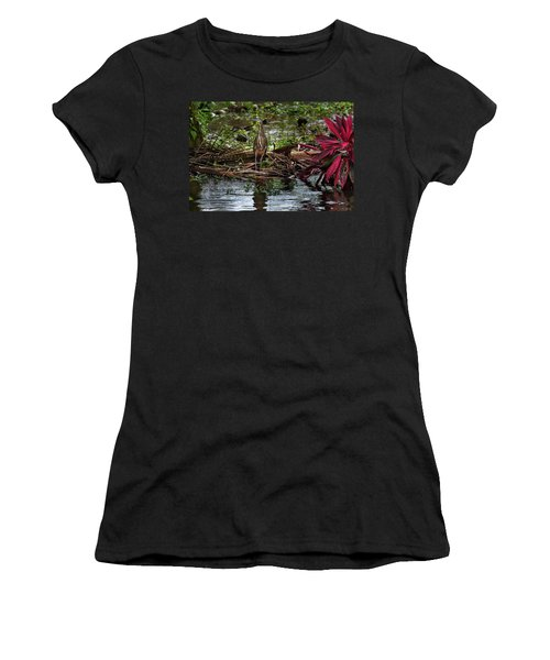 Bare-throated Tiger-heron Women's T-Shirt (Junior Cut) by James David Phenicie
