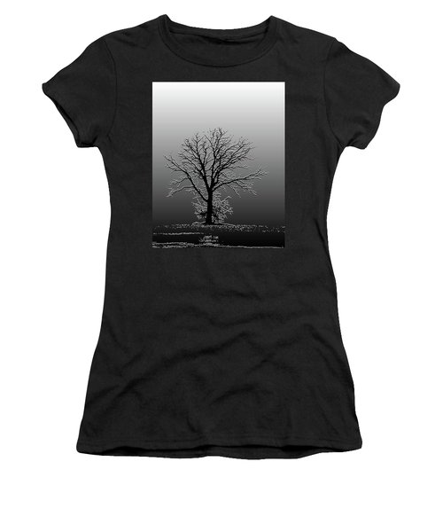 Bare Tree In Fog- Pe Filter Women's T-Shirt (Athletic Fit)