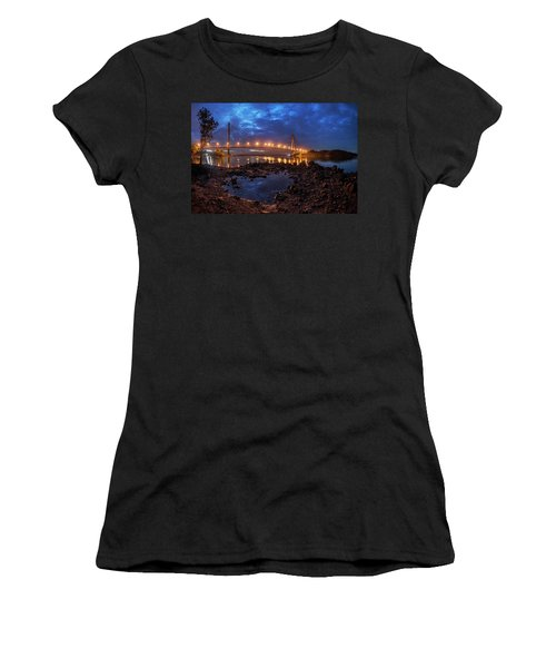 Women's T-Shirt featuring the photograph Barelang Bridge, Batam by Pradeep Raja Prints